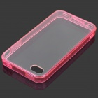 S-What Protective TPU Bumper Frame for IPHONE 4 / 4S - Translucent Red