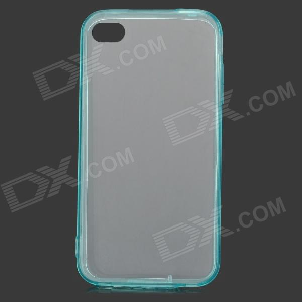 S-What Protective TPU + ABS Back Case for IPHONE 4 / 4S - Transparent Light Blue