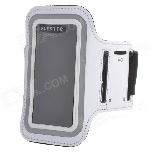 цена на Sports Velcro Band Armband for Samsung Galaxy S4 Mini / i9190, Galaxy S3 Mini / i8190 - White