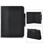 Protective PU Leather Case w/ Stand + Stylus Pen for Samsung Galaxy Tab 3 10.1 P5200 / P5210 - Black