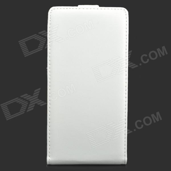 Protective Flip-Open PU Leather Case for Sony Xperia Z1 L39h - White