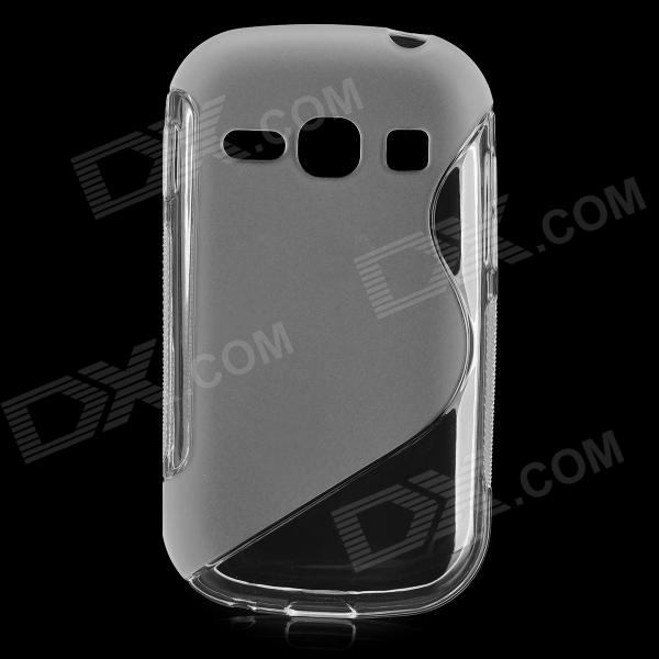 Protective S Style TPU Back Case for Samsung Galaxy Fame / S6812 / S6810 - Translucent White s style protective tpu back case for samsung i9082 translucent purple