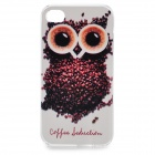 iphone4 Creative Coffee Owl Pattern Plastic Back Case for IPHONE 4 - Brown