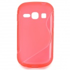 Protective S Style TPU Back Case for Samsung Galaxy Fame/S6812/S6810 - Red