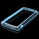 Protective TPU + PVC Bumper Frame for LG Nexus 5 - Light Blue + Translucent