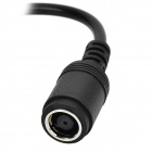 Round 7.9*5.5 female to Square Male Adapter Cable for Lenovo - Black