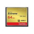 SanDisk 64GB Extreme CompactFlash Flash Memory Card 120MB/s