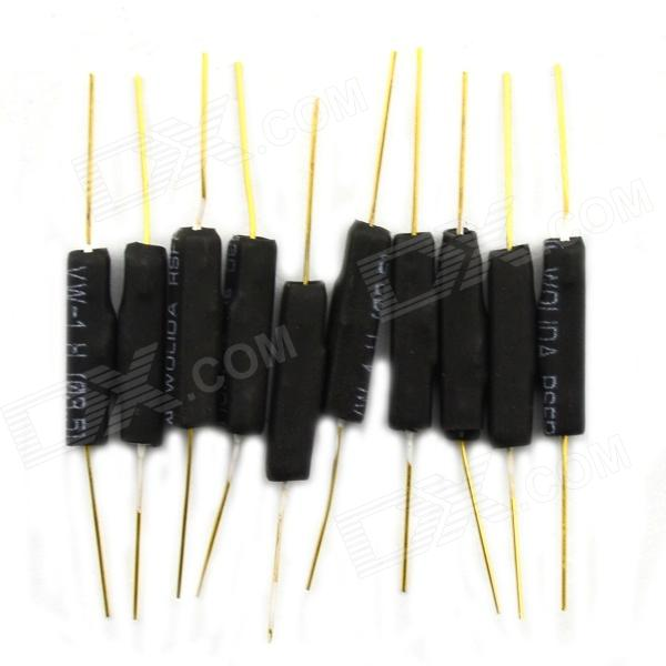 BONATECH Normally Closed Dry Reed Pipe Plastic Type - Black (10 PCS) high voltage dry reed relay crsthv 12v dc normally closed type with 20kv lead hm12 pressure 10kv 14k