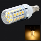 E14 5W 229lm 3200K 36 x SMD 5050 LED Warm White Light Lamp - White + Silver Grey (AC 85~265V)