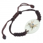 Spider Pattern Acrylic Insect Bracelet - Coffee + Brown