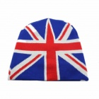 UK Flag Pattern Knitting Hut - Blau + Rot