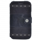 Zenus Stylish Protective Head Layer Cowhide Case Cover for Samsung Galaxy Note 2 N7100 - Black