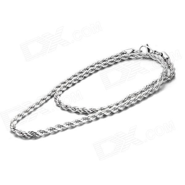 EQut CSS19T2S24 316L Stainless Steel 3.5mm Rope Chain Necklace for Man 24""