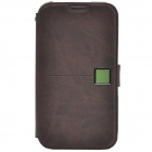 Zenus Stylish Protective Head Layer Cowhide Case Cover for Samsung Galaxy Note 2 N7100 - Taupe