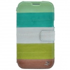 Zenus Stylish Protective Head Layer Cowhide Case Cover for Samsung Galaxy Note 2 - Multicolored