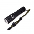 UltraFire M25 LED 4-Mode 800LM IPX-8 Dimming Flashlight w/ Strap - Black (1 x 18650)
