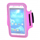 Sports Velcro Band Armband for Samsung i9300 / i9500, HTC One X / M7 - Deep Pink