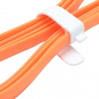VOJO Flat Micro USB Male to USB 2.0 Male Data Sync / Charging Cable for Samsung / MIUI / HTC -Orange
