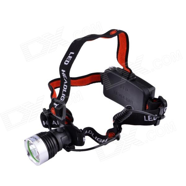 UltraFire L-33 LED 3-Mode 600LM Cool White Headlamp - Black + Silver (1 x 18650 / 3 x AAA) 600lm 3 mode white bicycle headlamp w cree xm l t6 black silver 4 x 18650