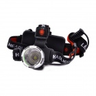 UltraFire LED 3-Mode 600LM Cold White Headlamp - Black + Silver (1 x 18650 / 3 x AAA)