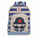 Fashionable Big Beard Canvas Backpack