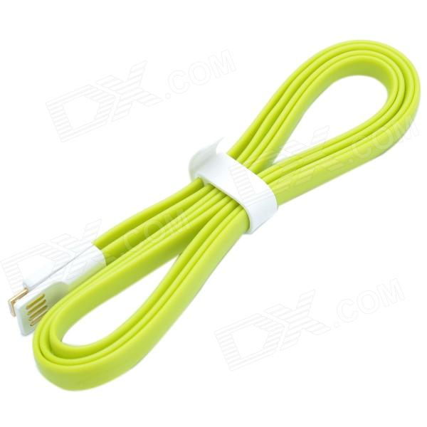 VOJO Flat Micro USB Male to USB 2.0 Male Data Sync / Charging Cable for Samsung / MIUI / HTC - Green vojo flat micro usb male to usb 2 0 male data sync charging cable for samsung miui htc green
