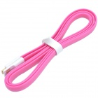 VOJO Flat Micro USB Male to USB 2.0 Male Data Sync / Charging Cable for Samsung / HTC - Deep Pink