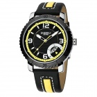 EYKI 8559 Personalized Fashion Men's Sports Quartz Watch - Black +Yellow
