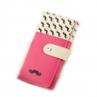 Fashionable Beard Clasp PU Wallet - Pink