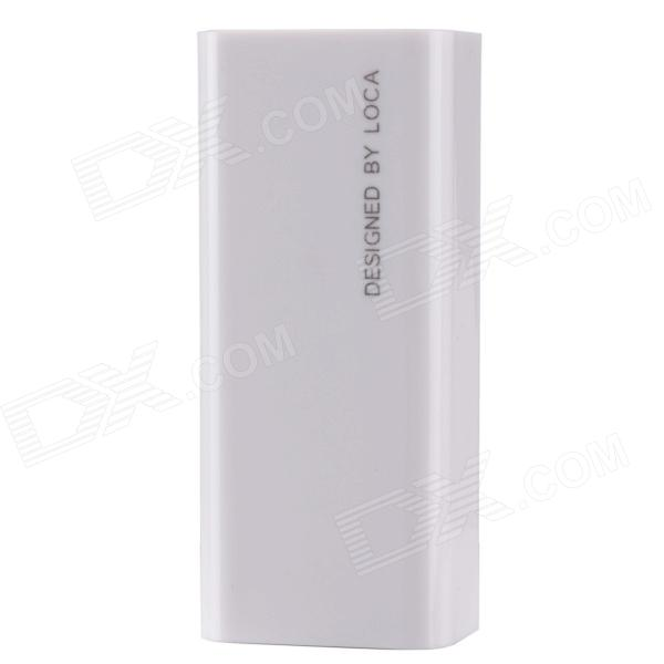 "Loca NO.2-2600 ""2600mAh"" Mini Intelligent Power Source Bank w/ Indicator Lamp - White"