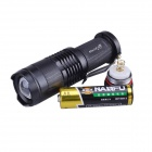 RichFire SF-117A 250lm LED 3-modo Mini Super blanco LED linterna zoom - negro (1 x AA/14500)