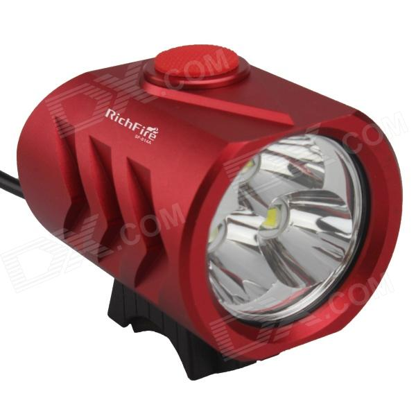 RichFire SF-814A 3-LED 2400lm White 5-Mode Bicycle Headlight - Red (4 x 18650)