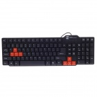 R8 KB-318 USB-Kabel 104-Key Gaming Keyboard - Schwarz + Orange (150cm-Kabel)