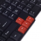 R8 KB-318 USB kabel 104-Key Gaming Tastatur - Black + oransje (150cm-kabel)