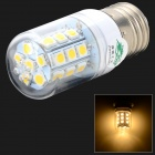 XYT E27 5.4W 480lm 3500K 27 x SMD 5050 LED Warm White Light Lamp - Transparent + Silver (120~265V)