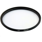Universal 72mm UV + CPL + FLD Lens Filter for DSLR Camera - Black
