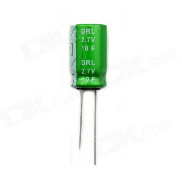 BONATECH 12.5MM x 21MM Farad Capacitor / Winding Type 2.7V 10F - Green new products ultra low leakage current faraday capacitor 2 7v3000f 2 7v1200f 2 5v700 specifications 60x130