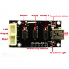BONATECH Mini 5V USB Powered Amplifier Board with 3D Volume Adjustment - Black