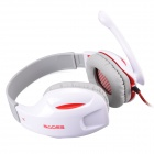 SADES SA-808 USB 2.0 Gaming Headset w/ Microphone - White (3.5mm Plug / USB2.0 Plug / 220cm-Cable)