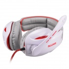 SADES SA-902 USB 2.0 Game Headphones w/ Microphone +Volume Control -White + Grey + Red (307cm-Cable)