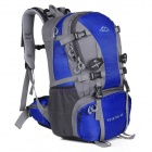 LKLR 429 Convenient Outdoor Sports Nylon Backpack for Hiking - Blue + Grey (40L)
