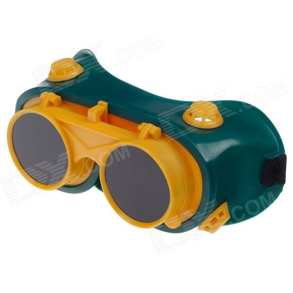 Protective Dual Electric Welding Goggles - Green + Yellow