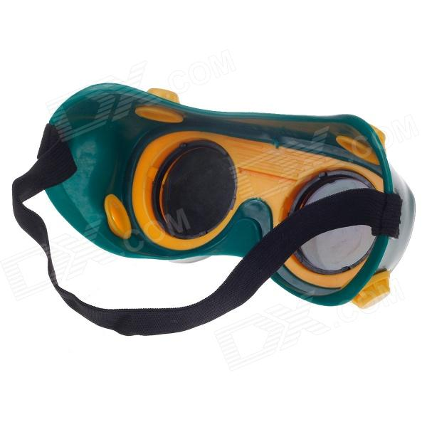 Protective Dual Electric Welding Goggles - Green + Yellow ...