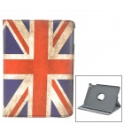 UK National Flag Style 360 Degree Rotation Protective PU Leather Case for IPAD AIR - Red + Blue