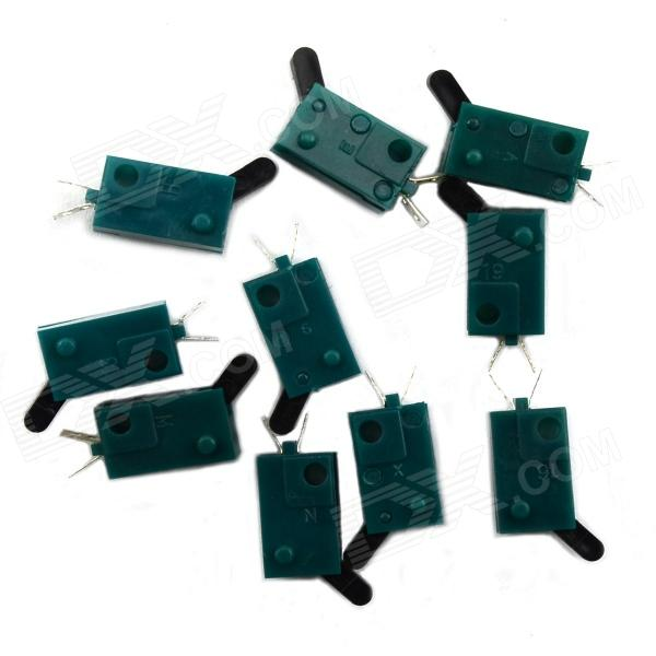 BONATECH Touch Switch Blades - Green (10 PCS) 40a blade contact fuse link base holder nt00 500v 120ka 660v 50ka