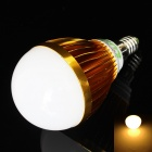 LUO E14 9W 730lm, 3000K, 18 x 5630 SMD LED Warm White Light Bulb - Golden + Weiß (85 ~ 265V)