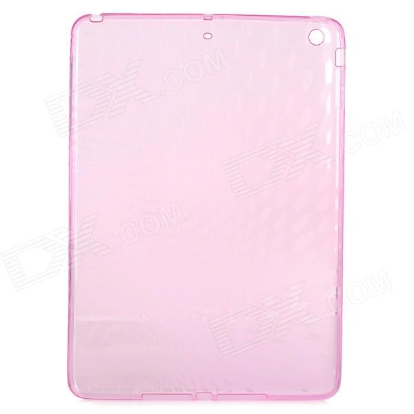 Raindrop Style Protective TPU Back Case for IPAD AIR - Translucent Pink