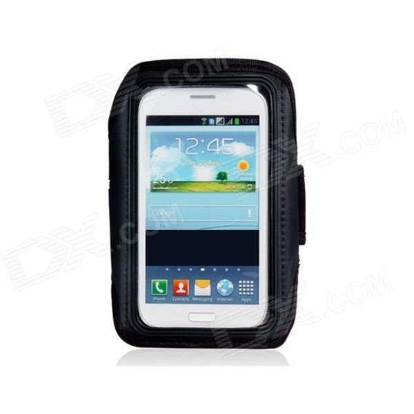 все цены на  Waterproof Neoprene Armband for Samsung Galaxy Note 2 N7100 - Black  онлайн