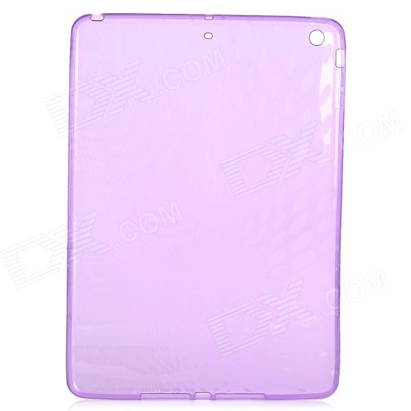 Raindrop Style Protective TPU Back Case for IPAD AIR - Translucent Purple