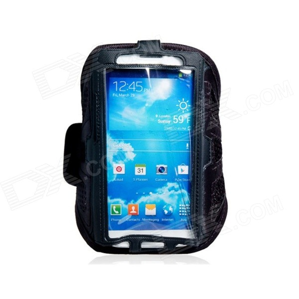 Protective Sports Neoprene Armband for Samsung Galaxy S4 / i9500 - Black